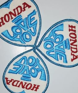 """3#"""" Honda I Love You """" Iron In Patches"""